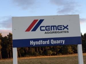 Cemex Hyndford sign