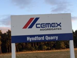 Cemex Hyndford sign