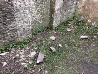 Fallen masonery